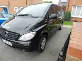 Mercedes Vito Dualliner 111 Black 2009 59 131k Good condition 6 seats NO VAT