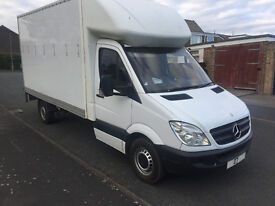 2007 mercedes sprinter luton slim jim tail lift 12 months m-o-t ready for work £4795 ovno