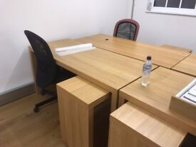 6 Office Desk and 2 Chairs - (can be sold as a set or separately)