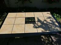 "6 - 8 Seater  Ceramic Tile Top Table,  65"" x 41 ½"""