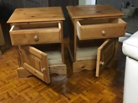 Matching pair quality bedside cabinets