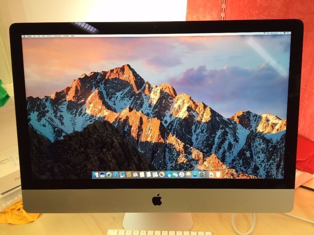"""GRADE A Apple iMac A1419 i5 Processor, 1TB, 8GB RAM, 27"""" Desktop (late, 2013WARRANTY, NO OFFERSin Walthamstow, LondonGumtree - This ad is for an Apple iMac 1TB Condition Fully working, looks pristine all around. May have 1 2 faint signs of use. Its a beautiful Machine and has had very little use. Looks amazing. Overall, grade A. The iMac will come with all accessories..."""