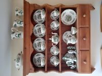 Wall cabinet and Masons china