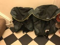 B'TWIN DOUBLE REAR PANNIER BIKE BAG - 2 X 15L
