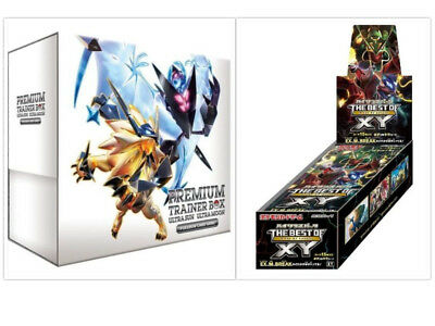 Japanese Pokemon Ultra Sun & Moon Premium Trainer Box & Best of XY Booster (Best New Pokemon Sun And Moon)