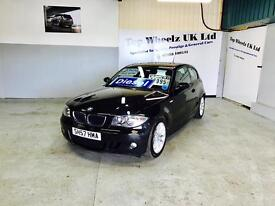 BMW 118D M SPORT AUTOMATIC 1 SERIES DIESEL, 57 PLATE, LONG MOT & FULL S/H, FINANCE AVAILABLE.