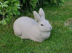 Rabbit ;cast stone garden ornament