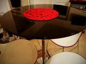Coffee table with four stools