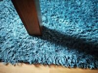 Unwanted floor rug-teal colour