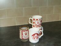 1970s Liverpool football mugs