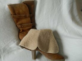 (URGENT SALE)LIKE NEW NEVER WORN LADIES 6 brown boots