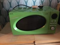 Next green microwave with matching kettle and toaster