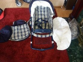Mamas and papas buggy/pushchair and carrycot