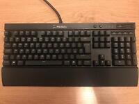 Corsair CH-9101024-UK K70 Rapidfire Cherry MX Red Backlit Mechanical Gaming Keyboard , Black