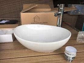 Counter top sink, and tap