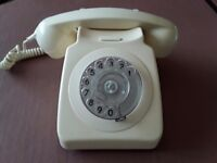 Original Cream GPO Rotary Dial Phone