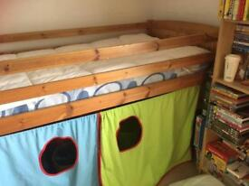 Single bunk bed and mattress