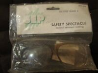 New in packet. SEP9204 Safety Spectacles with scratch resistant coating, BS2092 Grade 2