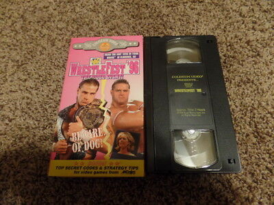 WRESTLEFEST 1996 96 wwf IN YOUR HOUSE BEWARE OF DOG vhs NON-RENTAL wrestling