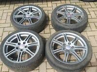"17"" EP3 type-R alloys Honda Civic 2001-2006 5x114.3 good tyres"