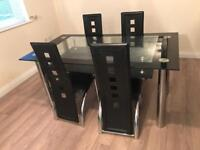Dinging room table with 4 chairs
