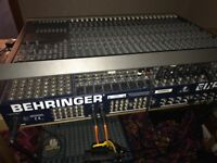 Behringer MX8000 Eurodesk 48 24 Channel 8 Bus Analogue Studio Sound Mixer
