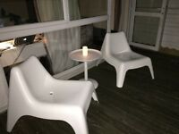 2 Ikea PS VAGO chairs for outdoor