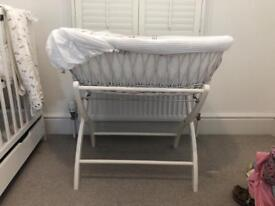 Izziwotnot Moses basket and stand (bassinet)