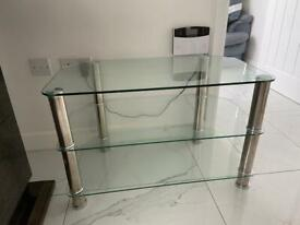 Glass/chrome TV stand - excellent condition