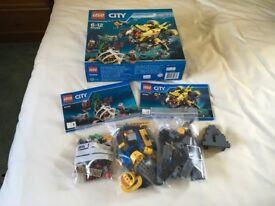 LEGO 60092 City Explorers Deep Sea Submarine Set (Used)