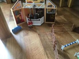 Playmobile horse stables