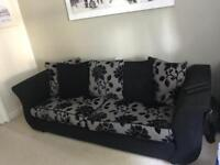 4 Seater Sofa + Swivel Cuddle Chair