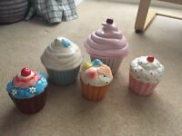 Cupcake storage jars x 5