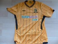 HULL CITY HOME SHIRT NEW CONDITION SIZE LARGE