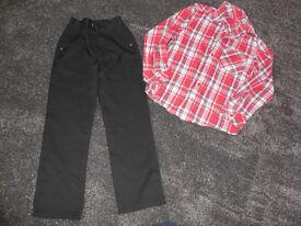 Boys Trousers & shirt 8-9 years
