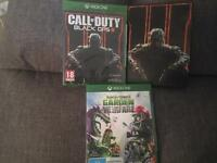 NEW UNOPENED Xbox one games call of duty black ops 3, garden warfare