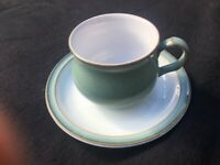 10 Denby Regency Green Cups and Saucers