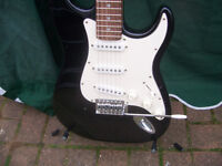 Stratocaster style Electric Guitar full size.