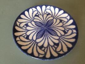 Midwinter blue palm Stonehenge plate