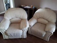 2 cream armchairs for free!!!