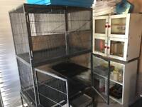 Ferret nation cage with fleece liners