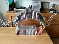 Collectible/Art deco/handmade contemporary metal CD/DVD display storage, Cat design, £20