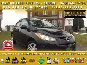 2014 Mazda MAZDA2 GX-$45/Wk-AUX/CD/MP3-LOW KM-FUEL EFFICIENT-SAV
