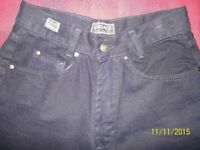 "REDUCED!! VERSACE SPORT BNWT SLIM FIT VERY DARK 100% COTTON NAVY JEANS SIZE 29"" INSIDE LEG 31"""