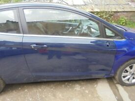 FORD FIESTA 2009 Mk7 3door OSF driver side door complete