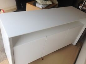 White High gloss Sterling Furniture Sideboard - Never Used