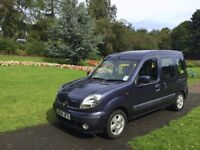 top of the range Renault kangoo crew van with disabled access. also ideal for dogs, work, leisure,