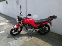 Yamaha ybr 125 cc red motorbike