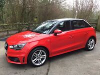 AUDI A1, MISANO RED WITH HIGH GLOSS BLACK CONTRASTING ROOF. ONE YEAR AUDI MANUFACTURERS WARRANTY