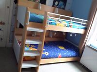 Amazing double bunk beds with built in glow in the dark steps!!